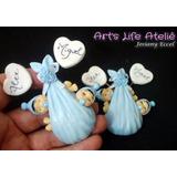 30 Lembrancinhas De Nascimento Para Gêmeos Imã - Biscuit