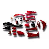 Plasticos Honda Wave Rojo 2014 Con Faros Sin Calco