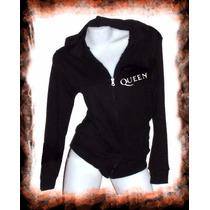 Campera Queen Logo Rock Dama Camperita Verano Oferta
