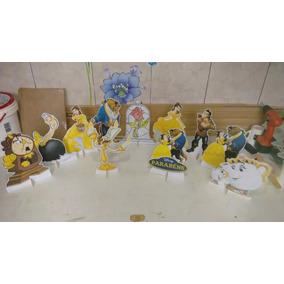 Bela Ea Fera 10 Display De Mesa Decorações Festa Infantil