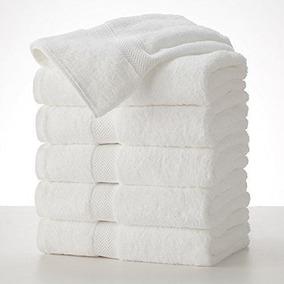 6 Toallas De Baño Blanca Hotelera 100% Algodón De 76 X 132
