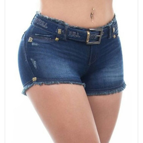 Short Pit Bull Jeans Código 24490 Com Cinto Lindo Tam 38