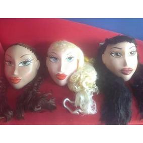 3 Hermosas Cabezas Para Disfraz De Adulto Muñecas Bratz