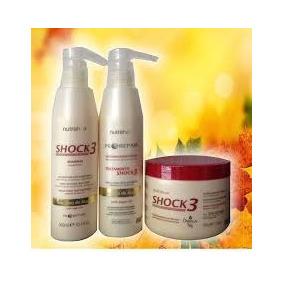 Kit Shock3 500ml + Blindagem Regeneradora 500gr - Nutra Hair
