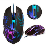 Mouse Gamer Micronics Scorpion M660 Usb 7 Colores