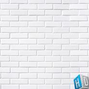 Papel De Parede Adesivo 3d Tijolo Branco Liso Clássico Sala