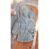 Antigua Figura De Catolica Santo En Plomo Para Colgar
