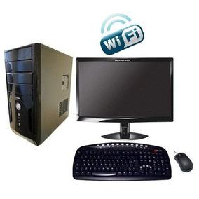 Pc Completo Dual Core 160gb 2gb Ram Monitor 17 Wifi Garantia