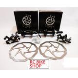 Kit Freio A Disco Bike Tsw Ride Rotores Cubo Rolamento Par
