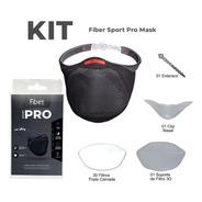 Kit Máscara De Proteção Fiber Knit Sport Pro Original Com Nf