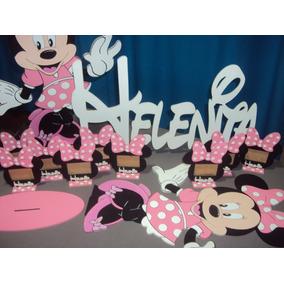 Figura De Minnie En Fibrofacil Pintado A Mano 100%, 60cm!!!