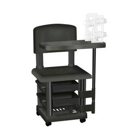 Cadeira Cirandinha Preta Para Manicure Com Display Esmaltes