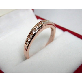 Churunbela 14k Oro Rosa Diamantes Naturales .27 G Vs1