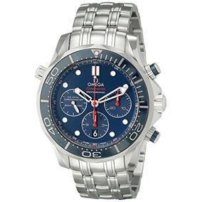 Omega Men De Diver 300 M Co-axial Cronógrafo Del Reloj De