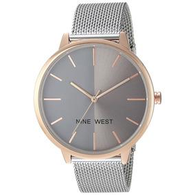 Reloj Nine West Para Dama Nw1981gyrt Original Acero