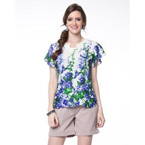 Blusa Soltinha Verde Com Estampa De Onça - Blusas para Feminino no ... 57f9a0baaf7