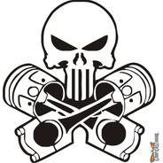 Calcomanía Punisher 04 17 X 16 Cm Graficastuning