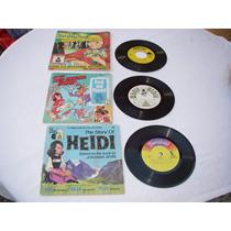 13 Discos 33 Rpm Historias Niños C Libro Ingles 1958 Vintage