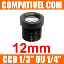Mini Lente 12mm P/ Mini Camera E Micro Camera - Lente Cftv