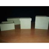 Cajitas Fibrofacil 6x6x6 Sin Pintar Pack X 10 Somos Fabrica