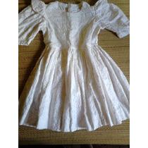 Vestido Branco Em Lasie Para Meninas Primeira Comunhão