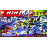 Lego Alterno Ninjago Dragon Azul Plomo Ataque Magia