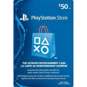 Playstation Network Cartão Psn $50 Dólares Usa Imediato
