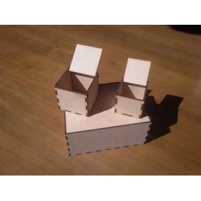 Cajita Caja Mdf Fibrofacil Madera Laser Souvenir 6x6x6 Cm