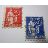 Republique Francaise Francia 50c 65c Postes Estampilla L23