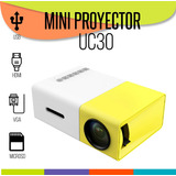 Mini Proyector Led Uc30 Hd Portátil Hdmi Tv Usb Sd Videobeam