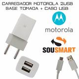 Carregador Motorola Razr D1 D2 D3 Hd Moto E Com 2 Saidas Usb