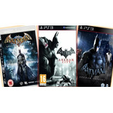 Combo Batman 3 En 1 Ps3 Juegos Digitales