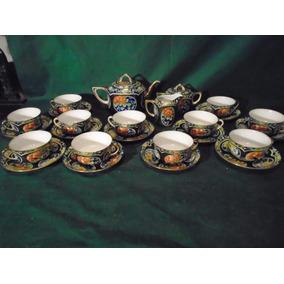 Antiguo Juego De Te Porcelana Chino Sellado
