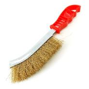 Cepillo Alambre Acero Bronceado Curvo Limpieza Plástico