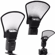 Rebatedor Universal Flash 2 Cores Branco E Prata Canon Nikon