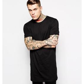 Camiseta Long Line Prata Ou Branca