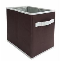 Caja Organizadora Cenefa Chocolate Mediana 20x30x29 Cms