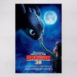 Poster 60x90cm Filmes Animacao Como Treinar O Seu Dragao