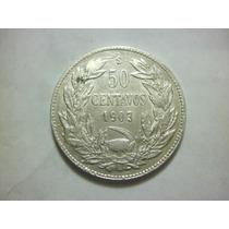 Chile Moneda 50 Centavos Fecha 1903 Plata Ley 0.700