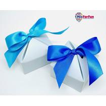40 Unid Caixa Lembrancinha Azul Claro Papel 6,2x6,2x3,7cm