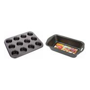 Set Reposteria Muffins X12 Budinera Teflon Antiadherente