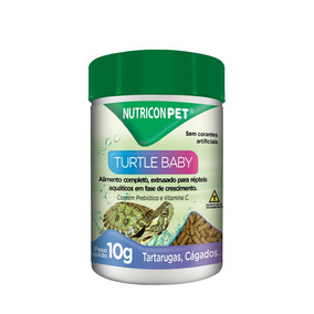 Ração Nutricon Turtle Baby Para Tartarugas - 10 G