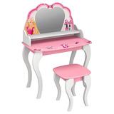 Penteadeira Infantil Barbie Star Branca Rosa - Pura Magia