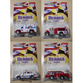 Auto Matchbox Carro Bomba Bomberos Police Heroes Colección