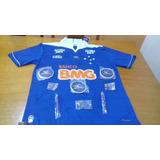 Kit Cruzeiro Camisa De Futebol Original Autografada + Brinde