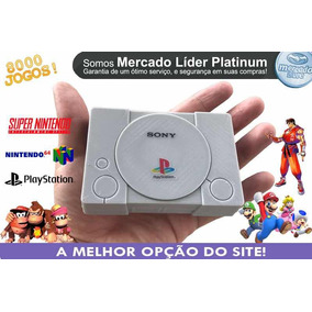 Playstation 1 Mini Com 8 Mil Jogos + N64 + Snes + Megadrive.