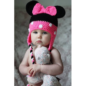 Gorro Para Niña De Minnie Mouse Mimi Tejido A Crochet