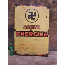 Cartel Enlozado 80 X 120 Cm Antiguo Energina Unico