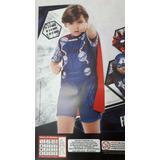 Fantasia Thor Infantil Curta C/ Capa Vingadores Original - P
