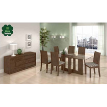 Conjunto Sala De Jantar 6 Cadeiras Florença Cor: Imbuia Sof